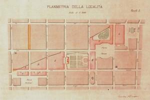 Firmino Caneparo, Progetto di smantellamento del Giardino dei Ripari.ASCT, Tipi e disegni.© Archivio Storico della Città di Torino