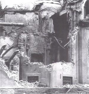 Incursione del 13 agosto 1943, Santuario della Consolata. © Archivio Storico AMMA