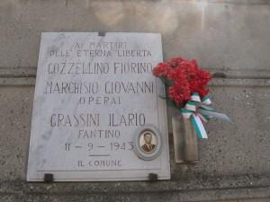 Lapide dedicata a Gozzellino Fiorino, Grassini Ilario, Marchisio Giovanni