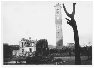 Chiesa Madonna di Campagna, Via Cardinale Massaia 98. Effetti prodotti dai bombardamenti dell'incursione aerea dell'8-9 dicembre 1942. UPA 2812D_9D01-16. © Archivio Storico della Città di Torino