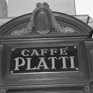 Platti Caffè Confetteria, particolare della devanture, 1998 © Regione Piemonte