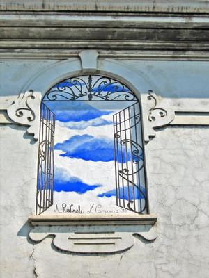Campoccia - Ravinale, Affresco per il MAU Museo Arte Urbana, 1998, via Musiné - via Locana. Fotografia di Alessandro Vivanti, 2011