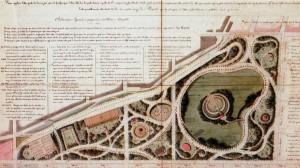 Gaetano Lombardi, Progetto per la realizzazione del Giardino dei Ripari, 1825.ASCT, Tipi e disegni.© Archivio Storico della Città di Torino
