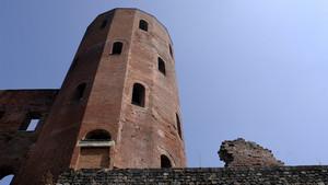 Particolare della Porta Palatina (3). Fotografia di Plinio Martelli, 2010. © MuseoTorino.