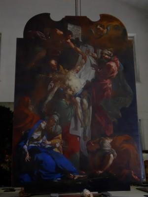 Claudio Francesco Beaumont (1694-1766), Deposizione di Cristo dalla croce, 1731 circa.     Fotografia di Francesca Romana Gaja, 2011-2012