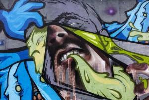 Vesod, Sir2, Pao, Psiko, Guys, Esck, Isma, murale senza titolo, 2011, via Quarello