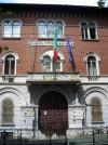 Caserma Vittorio Dabormida. Particolare dell'ingresso principale. Fotografia di Silvia Bertelli.
