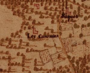 Cascina La Grangia, già Lagrange. Carta della Montagna, 1694-1703. ©Archivio di Stato di Torino.