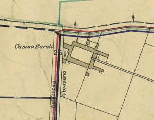 Cascina Barolo. Pianta di Torino, 1935. © Archivio Storico della Città di Torino