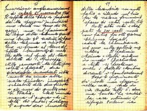 Diario dell'Istituto Lorenzo Prinotti, 1942. ASCT, Fondo Prinotti cart. 31 fasc. 11, 10, pp. 18-19. © Archivio Storico della Città di Torino