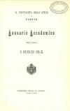 «Annuario accademico», A. VIII, a.a. 1883-1884, Torino, copertina