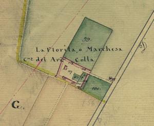 Cascina La Marchesa, già La Florita. Catasto Gatti, 1820-1830. © Archivio Storico della Città di Torino