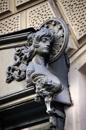Ferramenta, particolare decorativo del portinsegna, 2017 © Archivio Storico della Città di Torino