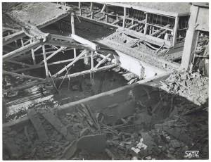 FIAT Autocentro - Stabilimento di Mirafiori. Effetti prodotti dal bombardamento dell'incursione aerea del 20-21 novembre 1942. UPA 2202_9B06-19. © Archivio Storico della Città di Torino