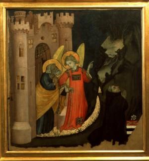 Giacomo Jaquerio, Liberazione di San Pietro, 1410-1415, tempera su tavola, cm 82x85. Torino, Museo Civico d'Arte Antica, inv. 0472/D