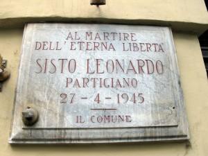 Lapide dedicata a Sistu Leonardo (1929 - 1945)