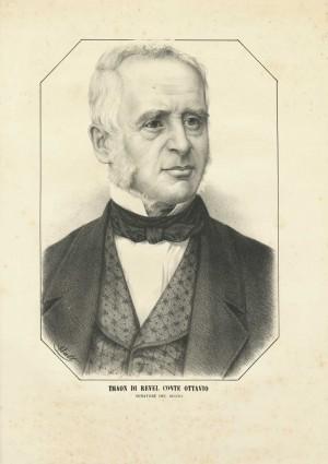 Ottavio Thaon di Revel, litografia Watt. © Archivio Storico della Città di Torino