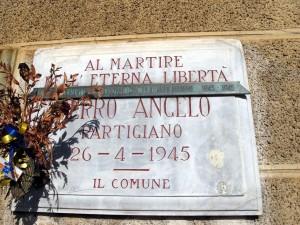 Lapide dedicata a Ferro Angelo (1891 - 1945)