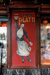 Platti Caffè Confetteria, particolare del'insegna dipinta, 2017 © Archivio Storico della Città di Torino