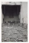 """Cappella dell'Istituto Nazionale Reale """"Figlie dei Militari"""", Via Figlie dei Militari 25. Effetti prodotti bombardamenti dell'incursione aerea dell'8 agosto 1943. UPA 3855_9E03-04. © Archivio Storico della Città di Torino/Archivio Storico Vigili del Fuoco"""
