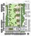 Planimetria dell'edificio e del giardino antistante il grattacielo Intesa Sanpaolo. © Renzo Piano Building Workshop