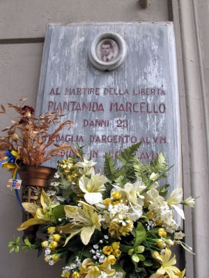 Lapide dedicata a Marcello Piantanida (1922 - 1945)