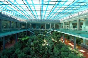 Il giardino interno della Scuola universitaria interfacoltà per le biotecnologie. Fotografia di Bruna Biamino, 2010. © MuseoTorino.