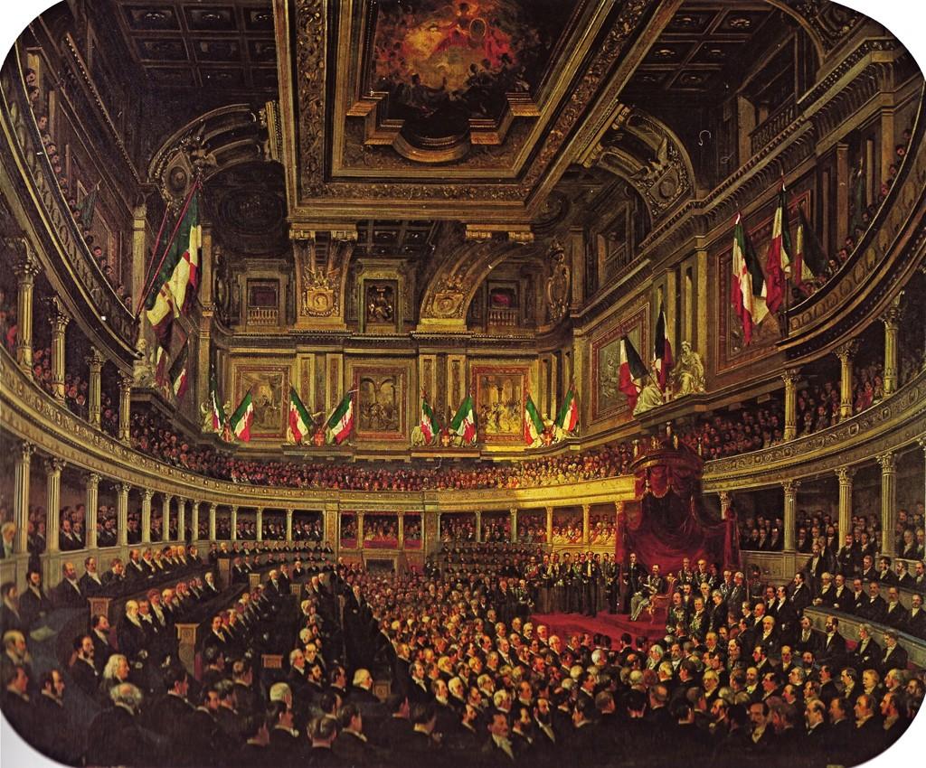 Aula del senato di palazzo madama museotorino for Storia del parlamento italiano