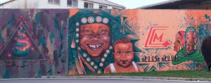 Artisti vari, Sorrisi di madri africane, 2013, giardini di via Verolengo