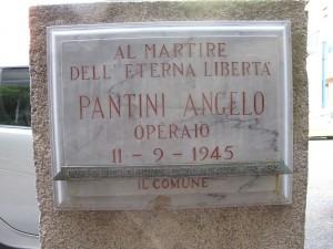 Lapide dedicata a Pantini Angelo (1904 - 1943)