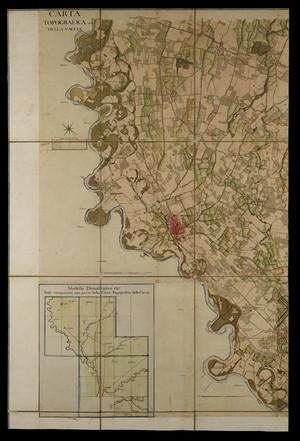 Carta topografica della caccia. Archivio di Stato di Torino, Corte, Carte topografiche Segrete, 15 A VI rosso. © Archivio di Stato di Torino