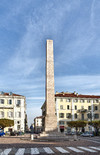 Luigi Quarenghi, Obelisco alle leggi Siccardi, 1853. Fotografia di Mattia Boero, 2010. © MuseoTorino.