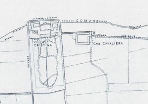 Villa Cristina, già cascina Brucco. Istituto Geografico Militare, Pianta di Torino, 1974, © Archivio Storico della Città di Torino