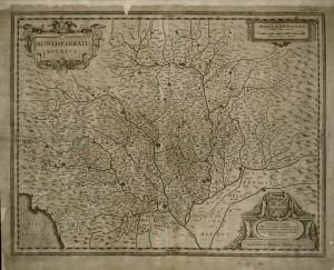 Montisferrati Ducatus, 1639, Pianta topografica del Ducato del Monferrato