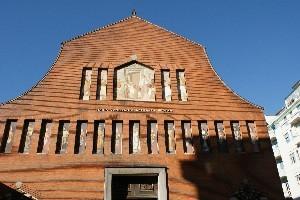 La facciata della chiesa. Fotografia di Giuseppe Beraudo, 2010.