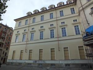Piazza Bernini 5, ex Scuola media Giovanni Pascoli, oggi in ristrutturazione grazie al finanziamento di Compagnia di Sanpaolo. Fotografia di Paola Boccalatte, 2014. © MuseoTorino