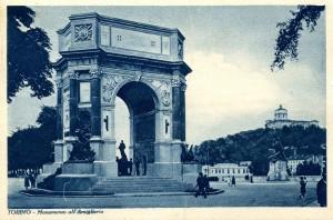 Cartolina, Torino, Monumento all'Artiglieria, anni Trenta del Novecento