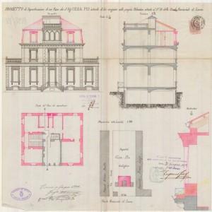 Progetto di ampliamento dell'edificio del 1892.