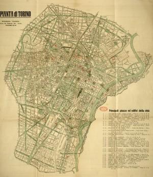 Pianta di Torino, 1935 circa. Biblioteca civica centrale, Cartografico  3/4.18. 01 © Biblioteche civiche torinesi