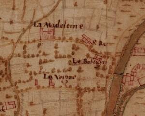 Cascina Verna nel quartiere Aurora. Carta della Montagna, 1694-1703. ©Archivio di Stato di Torino