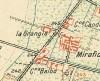 Cascina La Grangia, già Lagrange. Istituto Geografico Militare, Pianta di Torino e dintorni, 1911. © Archivio Storico della Città di Torino