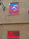Angelo Barile, Opere murali, facciata in via Ceres 11. Fotografia di Alessandro Vivanti, 2011 © MuseoTorino