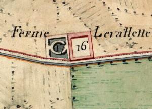 Cascina Le Vallette. Catasto Napoleonico, 1805. © Archivio di Stato di Torino