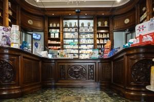 Farmacia degli Stemmi, già Alleanza Cooperativa Torinese N. 7, interno, 2017 © Archivio Storico della Città di Torino