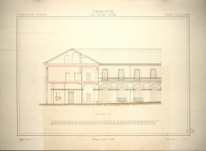 Spaccato del Collegio Monviso, 1865