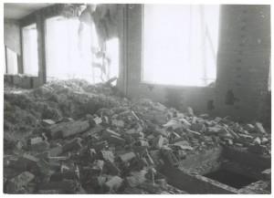 Fiat Mirafiori. Effetti prodotti dai bombardamenti del 4-5 dicembre 1940. UPA 0952D_9A02-17. © Archivio Storico della Città di Torino