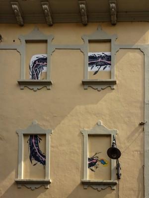 Fathi Hassan, murale senza titolo, 2000, via Musinè 12, MAU Museo Arte Urbana. Fotografia di Roberto Cortese, 2017 © Archivio Storico della Città di Torino