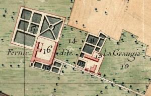 Cascina La Grangia, Grange. Catasto Napoleonico, 1805.© Archivio di Stato di Torino