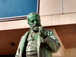Cesare Reduzzi, Monumento a Quintino Sella (dettaglio della statua), 1893. Fotografia 2020