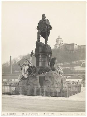 Odoardo Tabacchi, Monumento a Giuseppe Garibaldi, 1887. Fotografiadi GiancarloDall'Armi. © Archivio Storico della Città di Torino